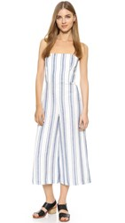 Club Monaco Simonettah Jumpsuit Blue White Stripe