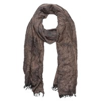 French Connection Distressed Scarf Indian Tan Mix