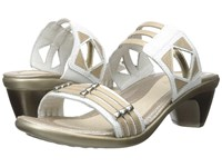 Naot Footwear Afrodita White Snake Leather Satin Gold Leather Gold Leather Women's Sandals Beige
