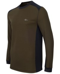 Greg Norman For Tasso Elba Men's Big And Tall Thermal Shirt Only At Macy's Ultra Olive