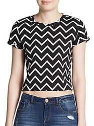 Saks Fifth Avenue Red Chevron Print Quilted Top
