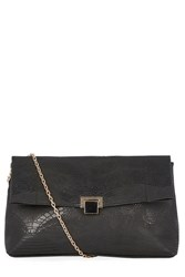 Warehouse Oversized Slouchy Clutch Black