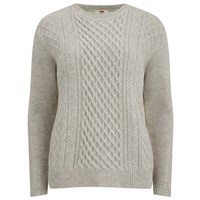 Levi's Women's Classic Cable Knitted Jumper Icy Heather Grey