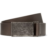 Maison Martin Margiela 3Cm Grey Leather Belt Gray