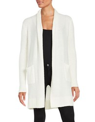 Michael Michael Kors Petite Long Open Front Cardigan Cream