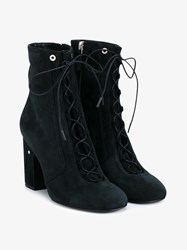 Laurence Dacade Milly Suede Ankle Boots Navy White