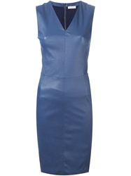 Maison Ullens Leather Fitted Dress