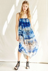 Urban Renewal Remade Hand Dyed Crinkled Maxi Dress Blue