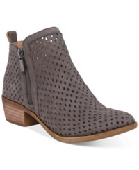 Lucky Brand Women's Perforated Basel Booties Women's Shoes Dark Stone