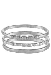 Selected Femme 3 Pack Sfmoby Ring Silvercoloured