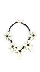 Kate Spade Lovely Lillies Statement Necklace Cream Multi