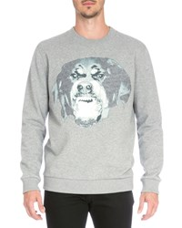 Givenchy Rottweiler Crewneck Sweatshirt Gray Women's