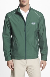 Cutter And Buck 'New York Jets Beacon' Weathertec Wind And Water Resistant Jacket Hunter Green
