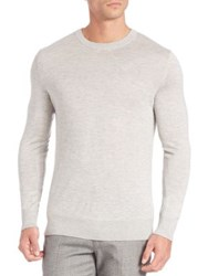 Theory Riland Silk And Cashmere Blend Sweater Grey Black