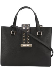 Red Valentino Perforated Strap Tote Black