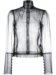 Simone Rocha Sheer Blouse Black
