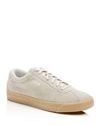 Nike Match Classic Suede Lace Up Sneakers Ivory