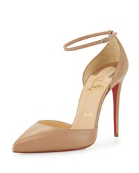 Christian Louboutin Uptown D'orsay 100Mm Red Sole Pump Nude