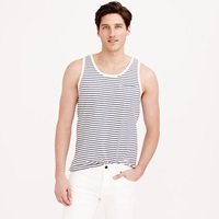 J.Crew Textured Cotton Tank Top In Washed Sand Stripe