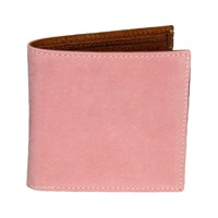 40 Colori Pink Solid Washed Mogador And Leather Wallet Pink Purple