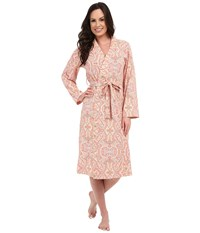 Bedhead Long Stretch Robe Coral Boho Paisley Women's Robe Pink
