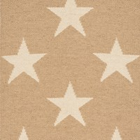 Dash And Albert Star Rug Camel Ivory 91 X 152 Cm