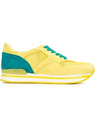 Hogan Lace Up Sneakers Yellow And Orange