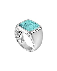 Silver And Turquoise Signet Ring John Hardy