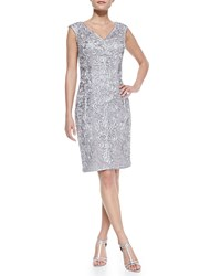 Sue Wong Sleeveless Beaded Embroidered Cocktail Dress Women's