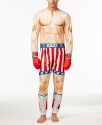 Briefly Stated Men's Rocky Balboa Jumpsuit Pajamas Nude Assorted