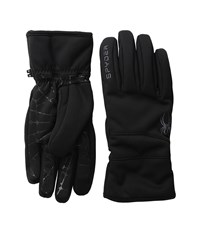 Spyder Facer Conduct Ski Glove Black Polar Ski Gloves Brown