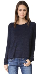Rag And Bone Camden Long Sleeve Tee Navy