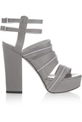 Camilla Skovgaard Leather Sandals Gray