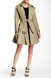 Bcbgeneration Long Double Breasted Trench Coat Green