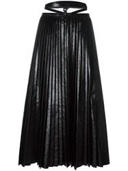 Valentino Pleated A Line Skirt Black
