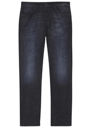7 For All Mankind Dark Blue Relaxed Jeans