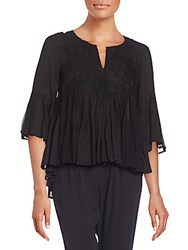 Ella Moss Desiree Peasant Blouse Black