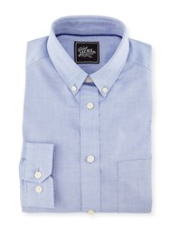 Jachs Micro Dot Cotton Dress Shirt Light Blue