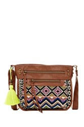 T Shirt And Jeans Festival Muse Crossbody Brown