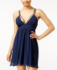 Jump Juniors' Strappy V Neck Fit And Flare Dress Navy
