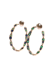 Sabine G Diamond Sapphire Emerald And Gold Earrings