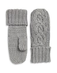 Rella Insulated Wool Blend Cableknit Mittens Heather Grey