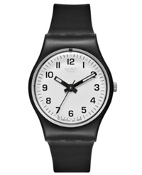 Swatch Watch Women's Swiss Something New Black Strap 25Mm Lb153
