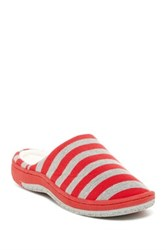 Gold Toe Striped Slipper Red