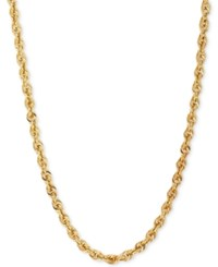 Macy's Glitter Rope Chain Necklace In 14K Gold
