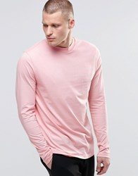 Asos Long Sleeve T Shirt With Typo Print Pink