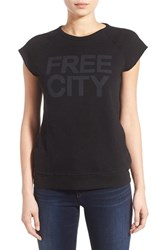 Women's Freecity 'Str8up' Raglan Cap Sleeve Sweatshirt