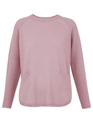 Whistles Cashmere Ribbed Boxy Jumper Pale Pink