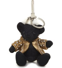 Burberry Punk Thomas Bear Cashmere Charm 12Cm Charcoal