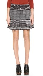 Twelfth St. By Cynthia Vincent Pleated Skirt Black Ivory